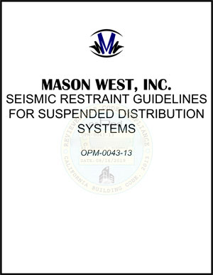 OSHPD approved Mason West Seismic Manual Cover